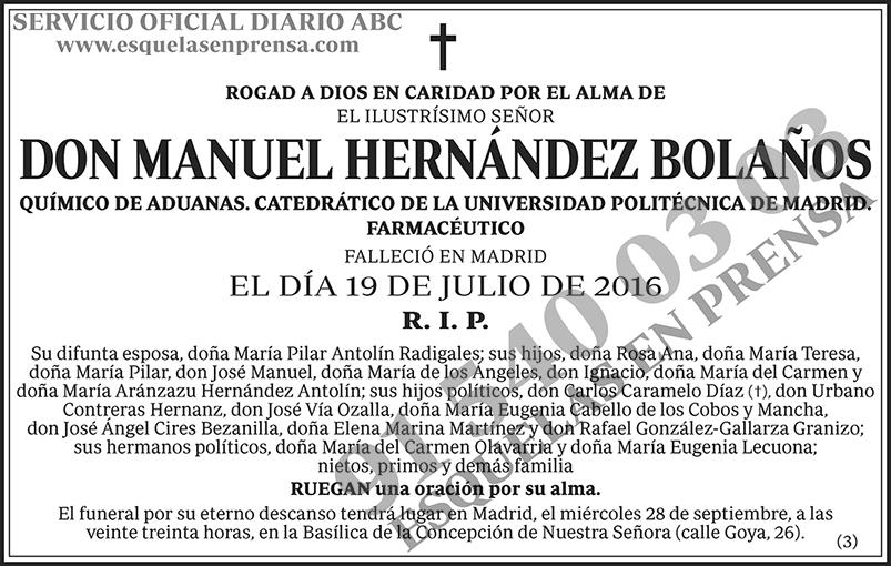 Manuel Hernández Bolaños
